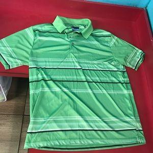 PGA Tour Golf Polo Lime Green Mens Rugby Shirt L